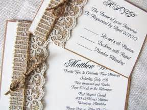 handmade burlap and lace wedding invitations rustic lace wedding invitations ipunya