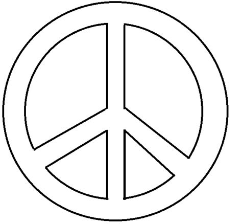 Peace Sign Printable Clipart Best Peace Sign Template
