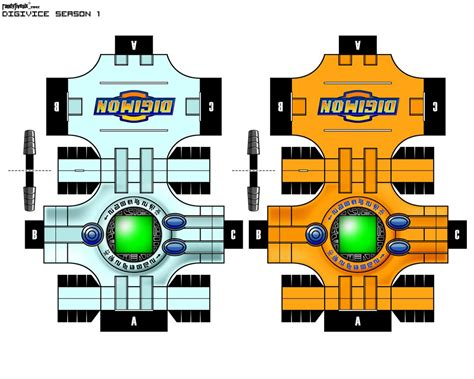 Digimon Papercraft - digivice reg and by randyfivesix on deviantart
