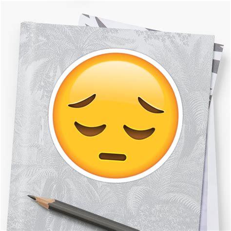 sad face emoji sticker  dmentes redbubble
