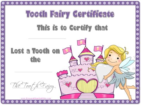 tooth certificate template free tooth certificate