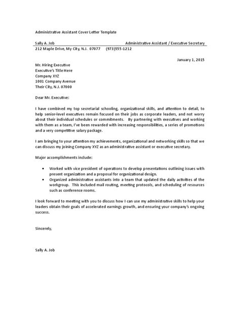 Administrative Assistant Cover Letter Exles 3 Free Templates In Pdf Word Excel Download Administrative Assistant Contract Template