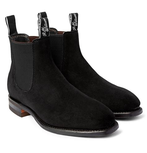comfortable chelsea boots r m williams comfort craftsman suede chelsea boots in