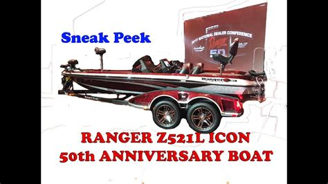 ranger boats z521l icon 100k new ranger z521l icon 50th anniversary boat sneak