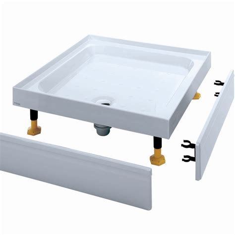 Coram Shower Trays With Upstands by Coram Waterguard Riser Shower Tray 760mm X 760mm 4 Upstands