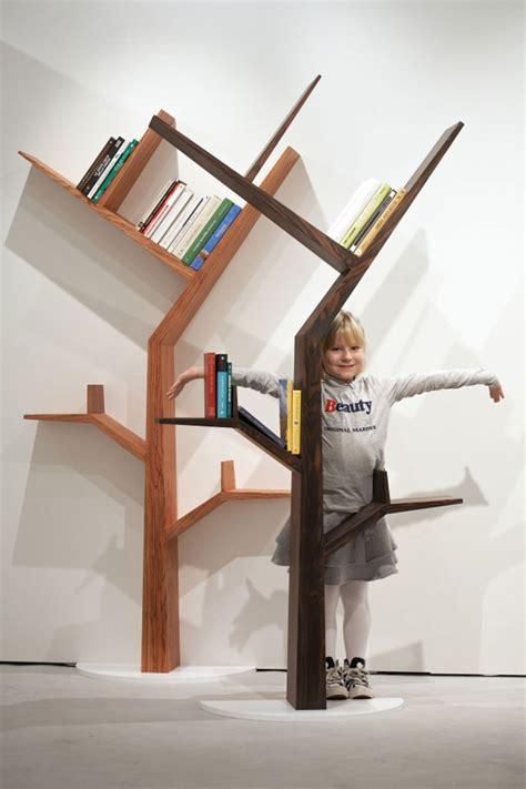 bookcase shaped   tree  kostas design