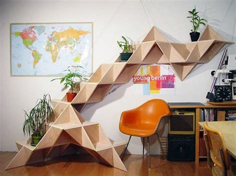 geometric shelves simple yet eccentric and great for