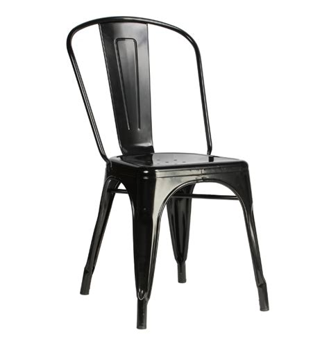 Raven Black Metal Tolix Chair Galvanized ? TableBaseDepot