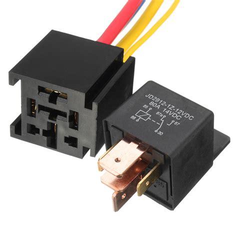 Socket Relay Universal 12v 80a 5pin dc spdt car relays socket car starter auto relay universal ebay