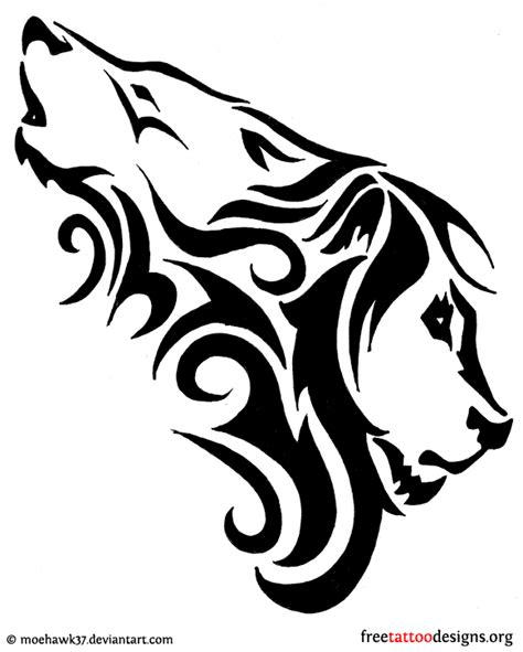 combination tattoo designs design combination of a wolf and a tattoos i