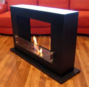 vent free ethanol fireplace modern even freestanding floor indoor ethanol burning