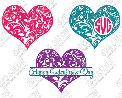 Toilet Mug by Valentine S Day Floral Heart Monogram Svg Cut File Set