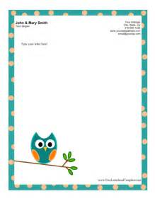 Free Stationery Templates For Microsoft Word by Owl Letterhead