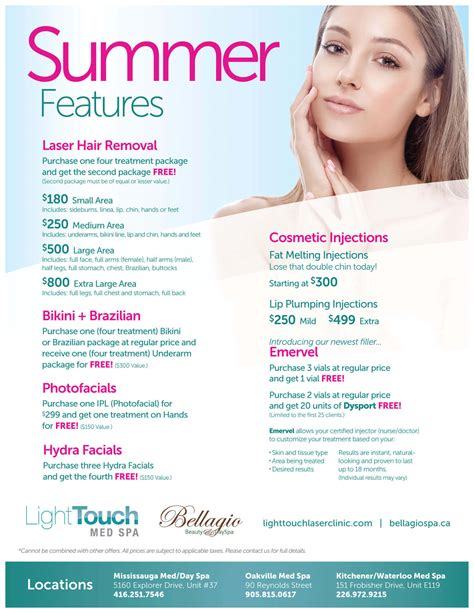 Laser Hair Removal Waterloo Kitchener by Med Spa Specials Lighttouch Laser Clinic