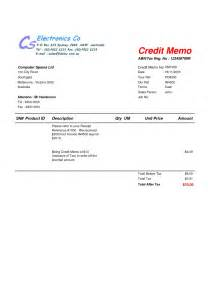 Credit Note Format Exle Of Credit Note Invoice Invoicetemplateprofessional
