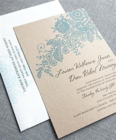 wedding invitations on cardstock kraft lace wedding invitation sle recycled
