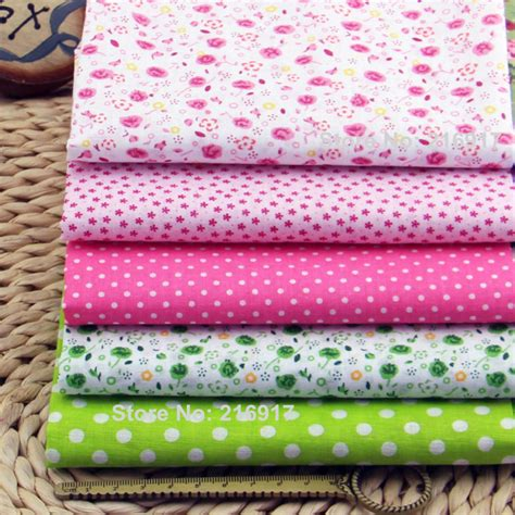 Cheap Patchwork Fabric - aliexpress buy 100 cotton fabric 5pcs plain floral
