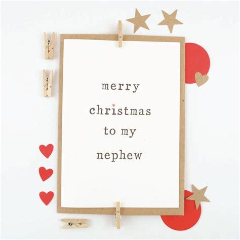 happy christmas niece  nephew card    wagtails notonthehighstreetcom