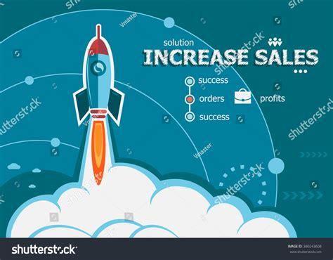 design concept background increase sales design concept background rocket stock
