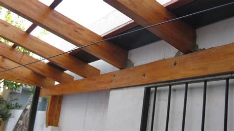 cocheras de madera prefabricadas techo para patio de luz