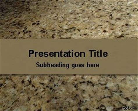 powerpoint themes geology granite stone powerpoint template
