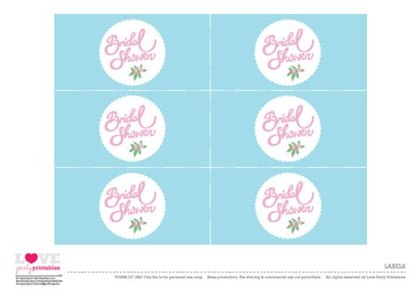free printable bridal shower tags free bridal shower party printables from love party