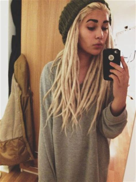 dreadlock models blonde girl with dread locks soft grunge tumblr dreads