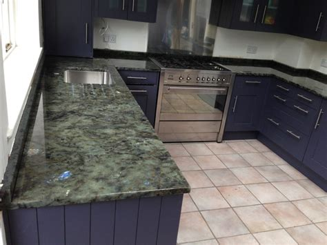 Labradorite Countertop by Kitchen Counterops In Labradorite Green Blue Granite 30mm