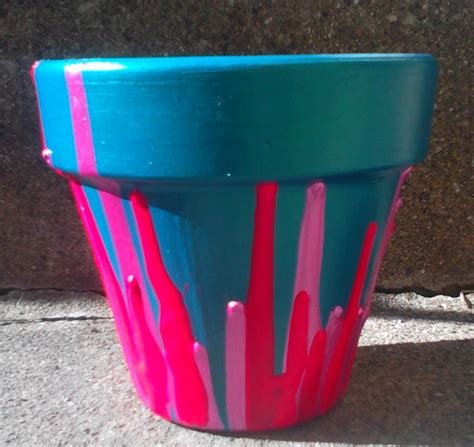 homemade flower pots ideas painted flower pot ideas homemade mamas drippy pot