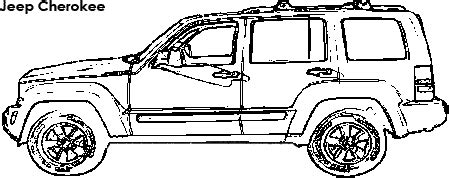 jeep cherokee coloring pages jeep cherokee dimensions