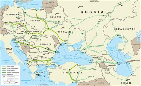 russia europe pipeline map baku russia map