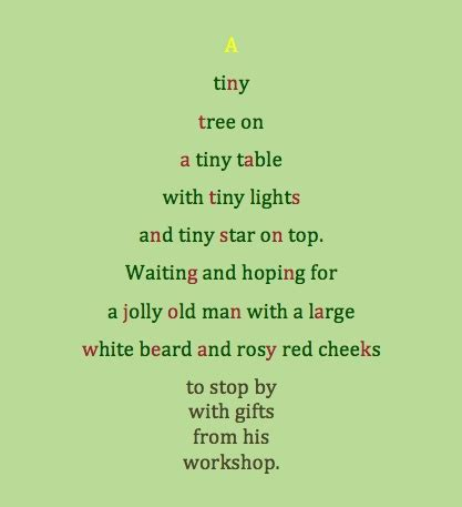 poem about a tiny christmas tree classroom ideas pinterest