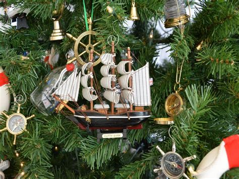 cutty sark model ship nautical christmas tree ornament