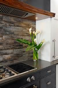 wood backsplash kitchen wood look tile ideas for every room in your house