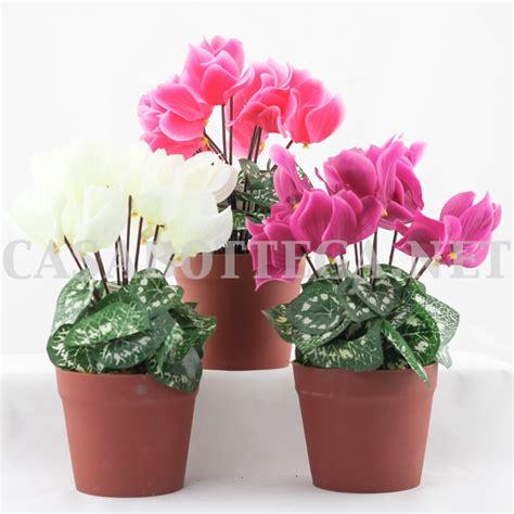 ciclamini in vaso fiori finti cicalmini fiori artificiali