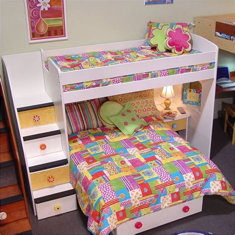 twin over full bunk bed with desk twin over full bunk bed with stairs and desk