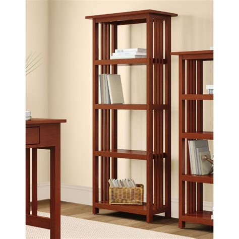 4 shelf open bookcase concepts in wood midas double wide 6 shelf bookcase in
