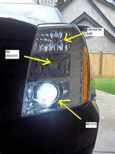2007 Cadillac Escalade Headlight Assembly Headlight Bulbs Ship Free Selection Autoanything