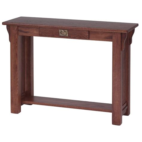 red oak sofa table solid oak authentic mission sofa table 39 quot the oak