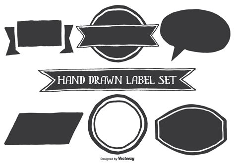 Anting Tusuk Inspired Shape Design style label shapes free vector stock graphics images