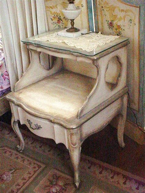 Reserved Vintage French Provincial Nightstand Table Original Provincial Shabby Chic Furniture