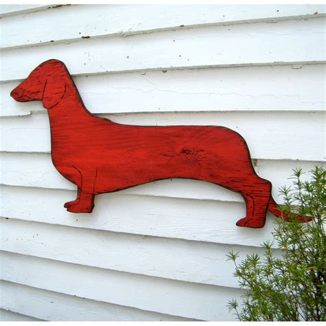 dachshund wall decor sign large wooden doxie dachshund