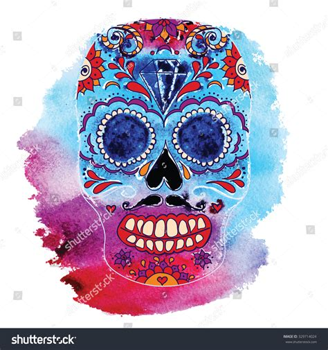 day of the dead colors vector skull color illustration tshirt graphics vectores