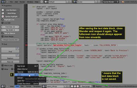 blender ui tutorial customizing blender ui by enabling fullscreen icon