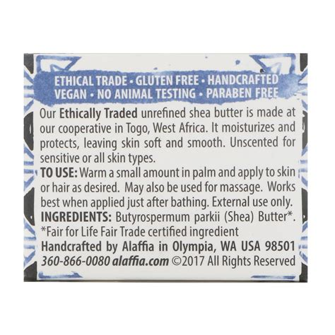 Alaffia Handcrafted Shea Butter Unscented - alaffia shea butter unscented 2 oz 57 g iherb