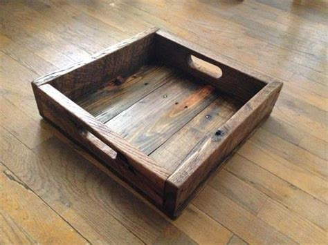 wood tray diy diy wood rustic pallet tray pallets designs