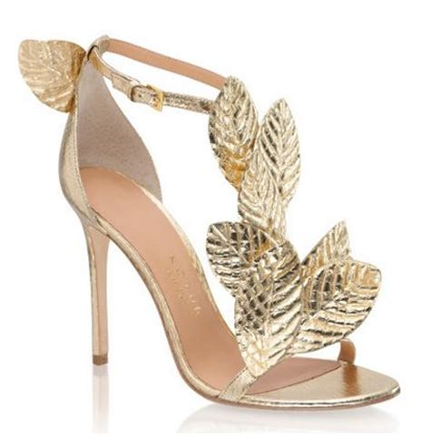 leaf shoes gold leaf heels fs heel