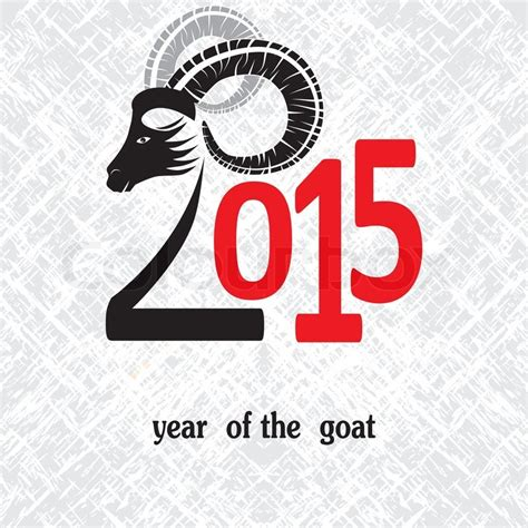 new year goat symbolism symbol vector goat 2015 year illustration image