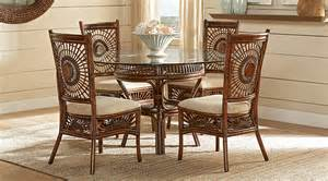 island brown rattan 5 pc dining set dining room