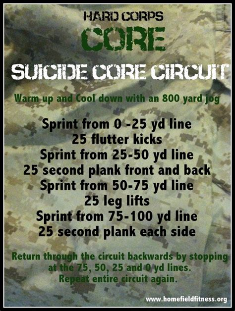 another marine corps workout home field fitness
